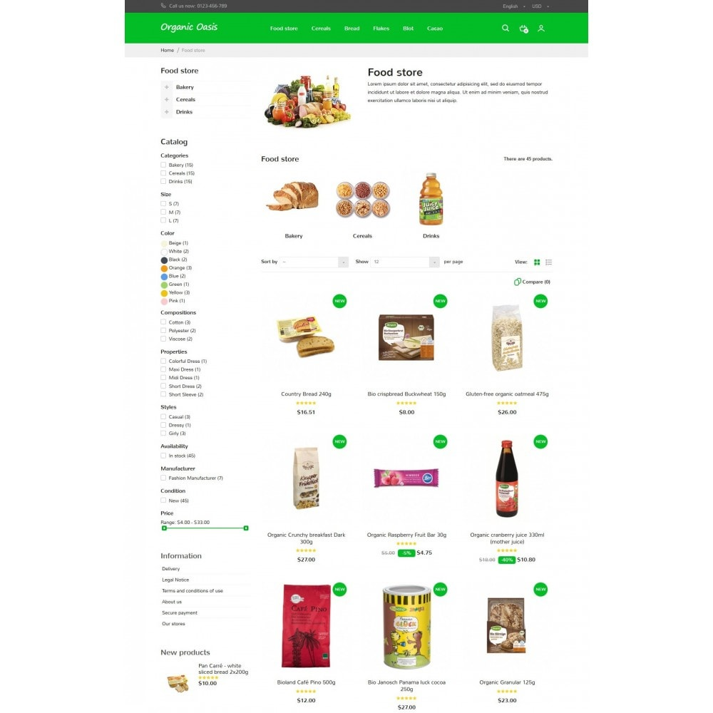 theme - Alimentation & Restauration - Organic Oasis Store - 8