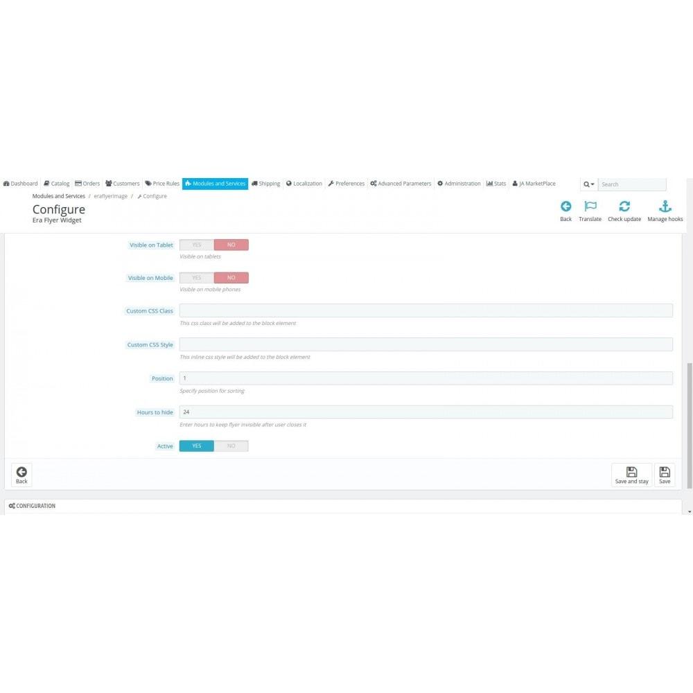 module - Personalización de la página - Era Flyer Widget - 4