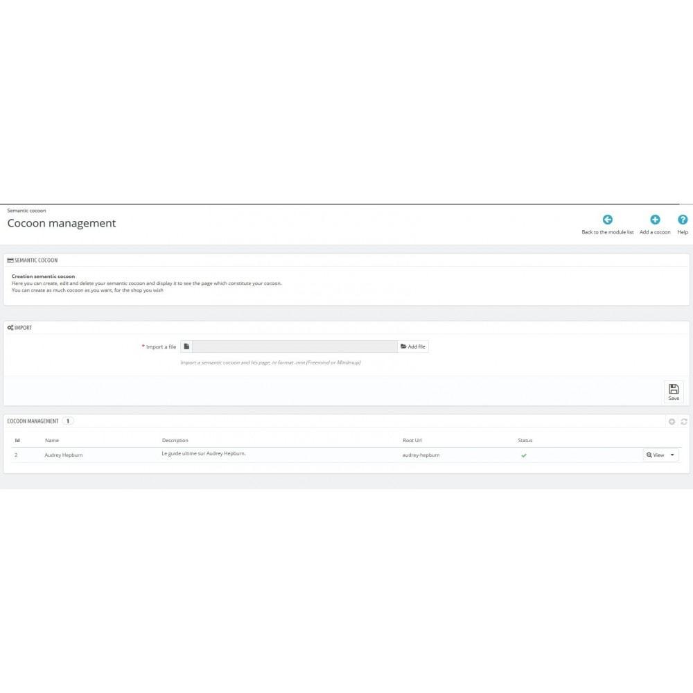 module - Естественная поисковая оптимизация - Semantic Cocoon - 1