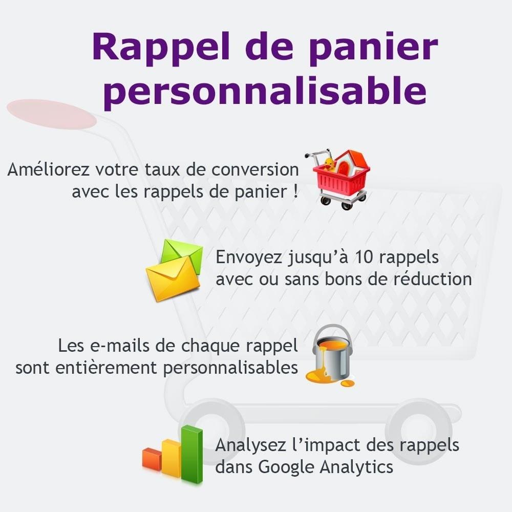 module - Remarketing & Paniers Abandonnés - Rappel de panier personnalisable - 1