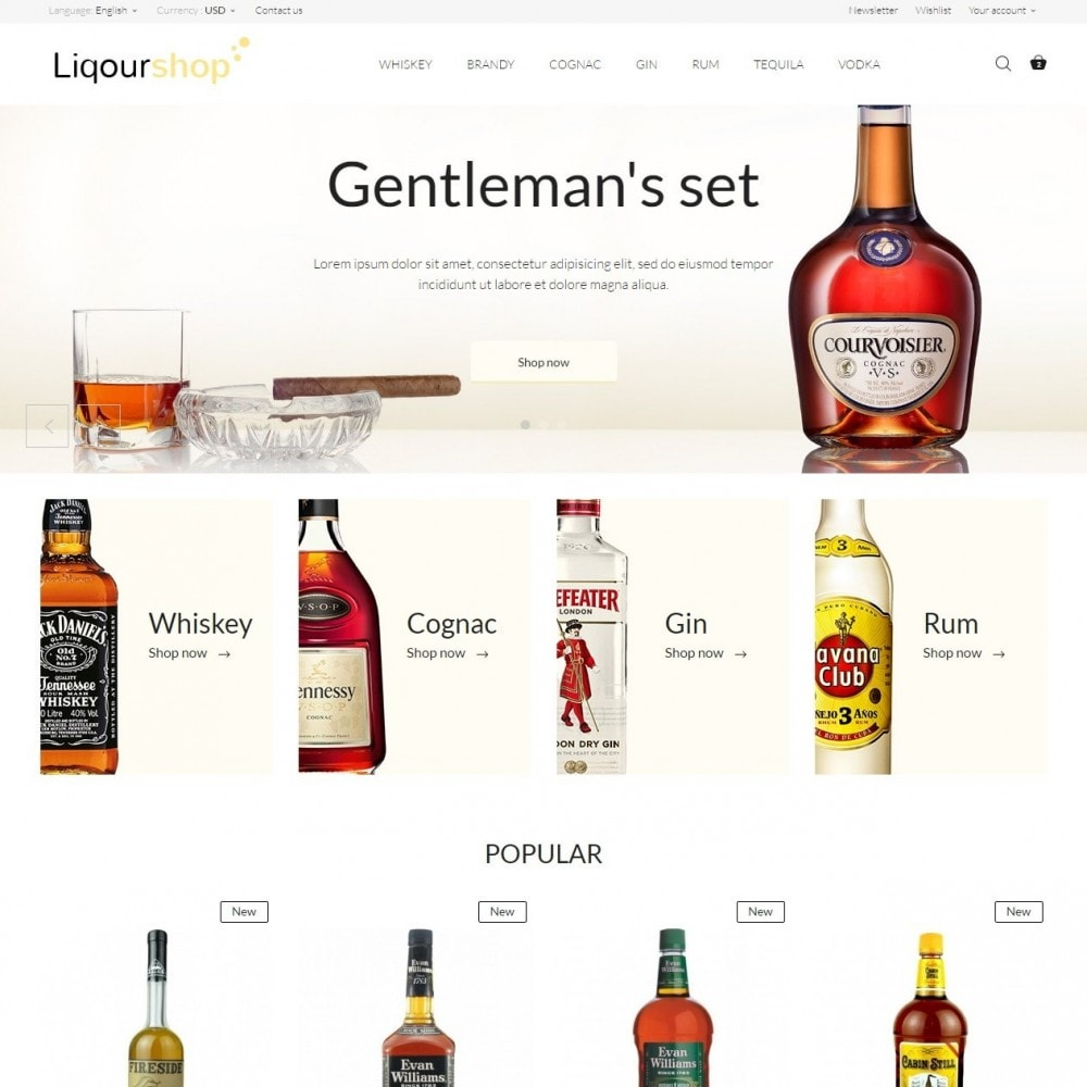 theme - Bebidas & Tabaco - Liquor Shop - 2