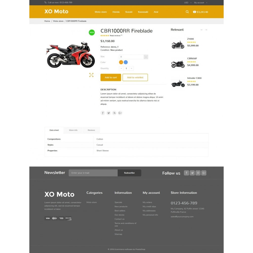 theme - Automotive & Cars - XO moto - 9