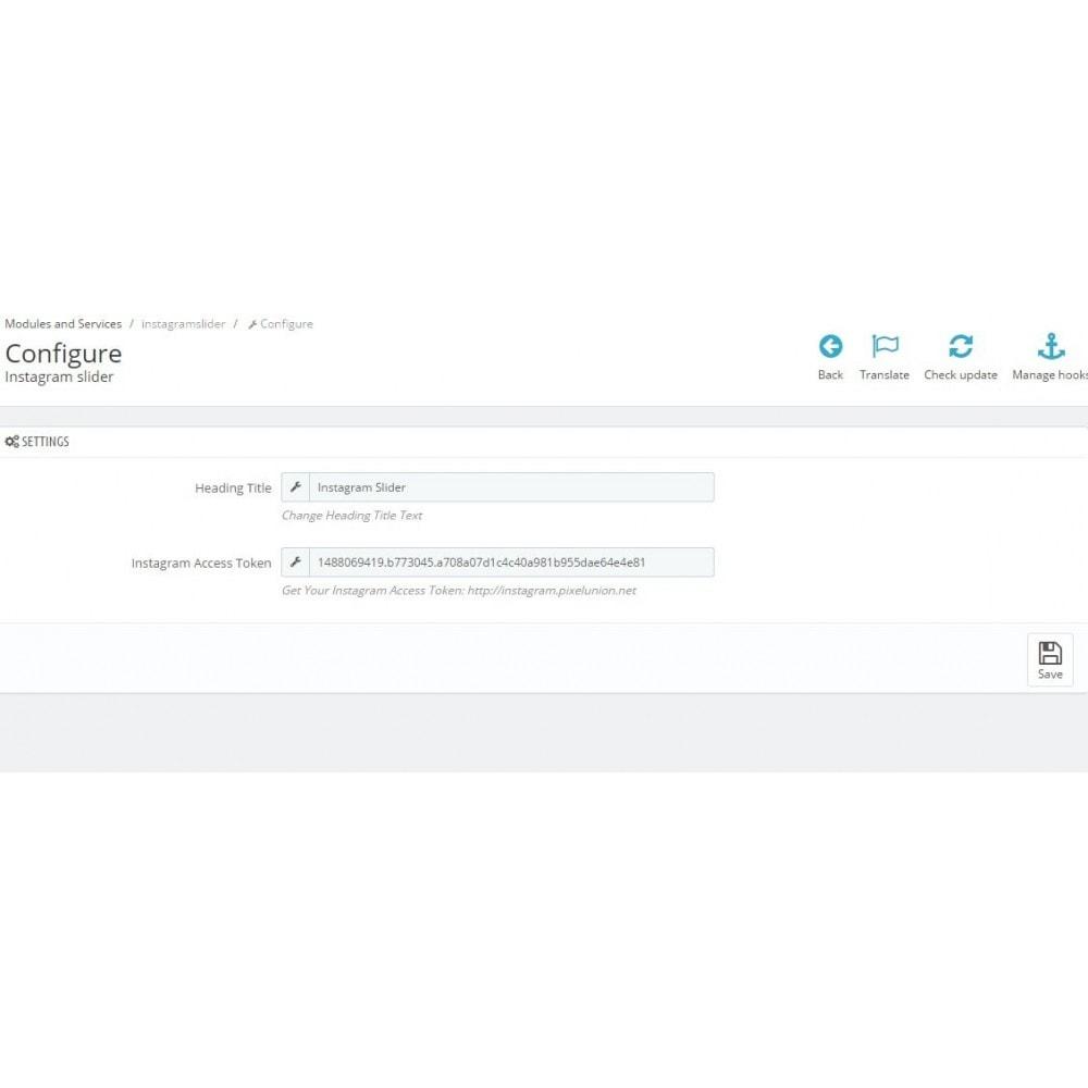 module - Widgets de Redes Sociais - Social Slider - 3