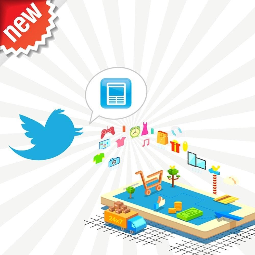 module - Produits sur Facebook & réseaux sociaux - Twitter Cards + Tweets de produits automatiques - 1