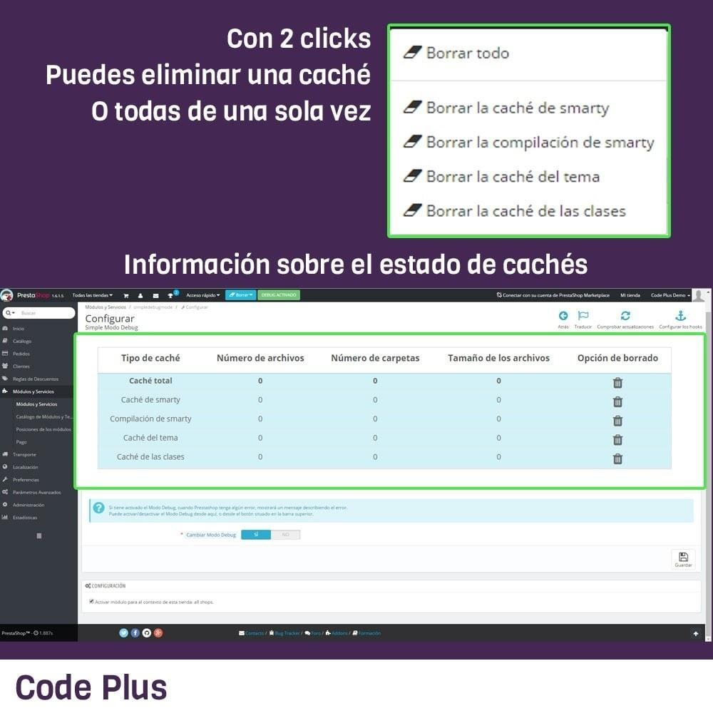 module - Herramientas Administrativas - Simple Modo Debug - 2