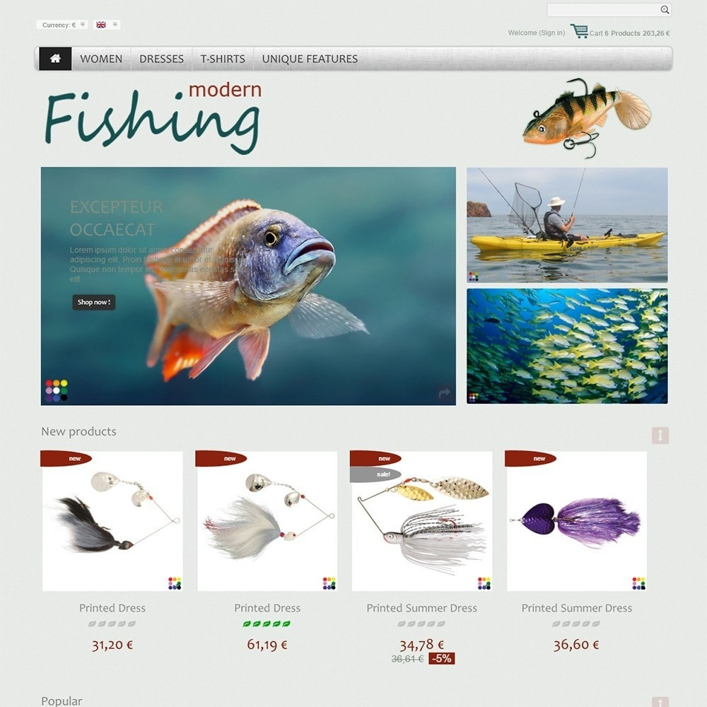 theme - Sports, Activities & Travel - Modern Fishing - 2