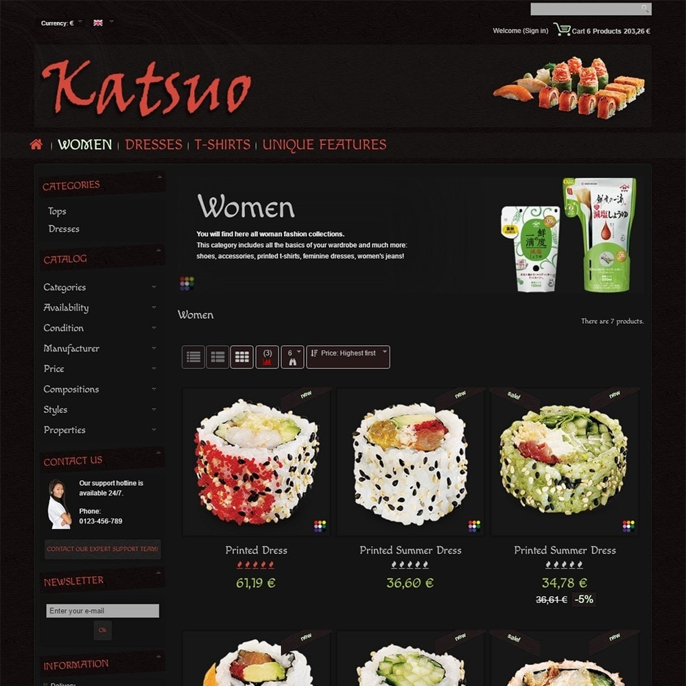 theme - Food & Restaurant - Katsuo - 4