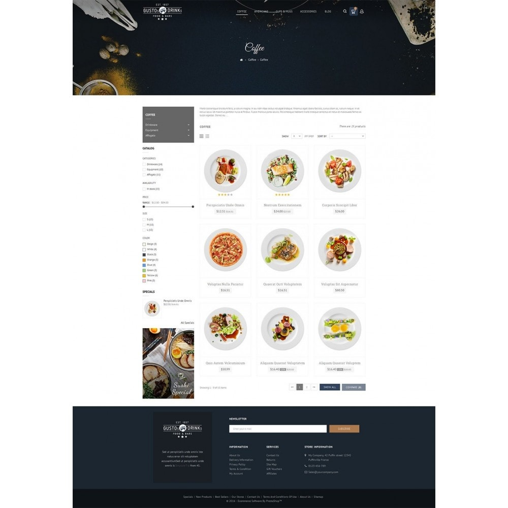 theme - Продовольствие и рестораны - Restaurant - 4