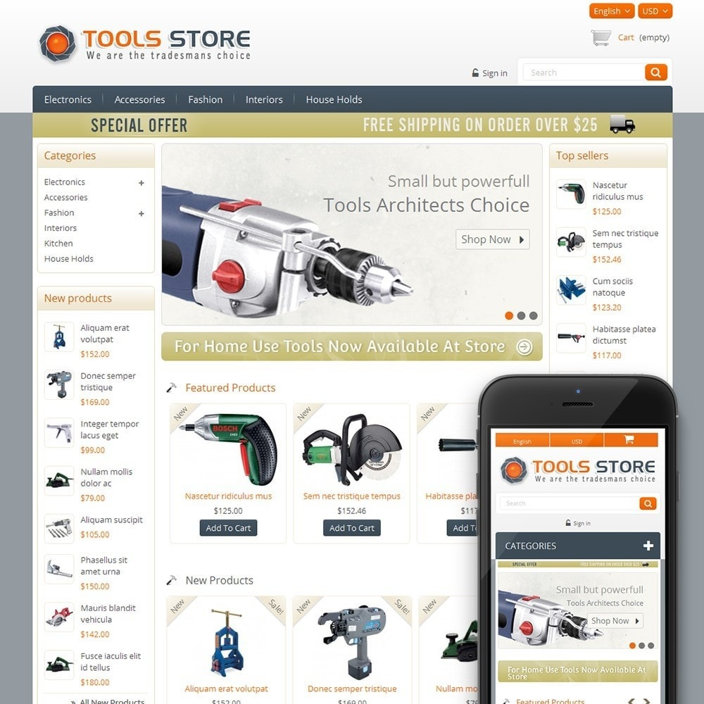 theme - Home & Garden - Tools Shop - 1