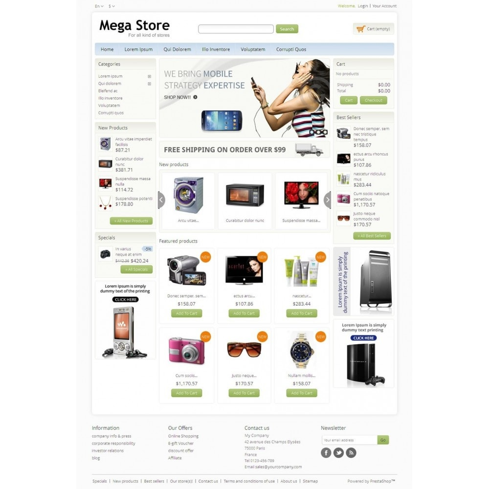 theme - Electronique & High Tech - Blue Mega Store - 2