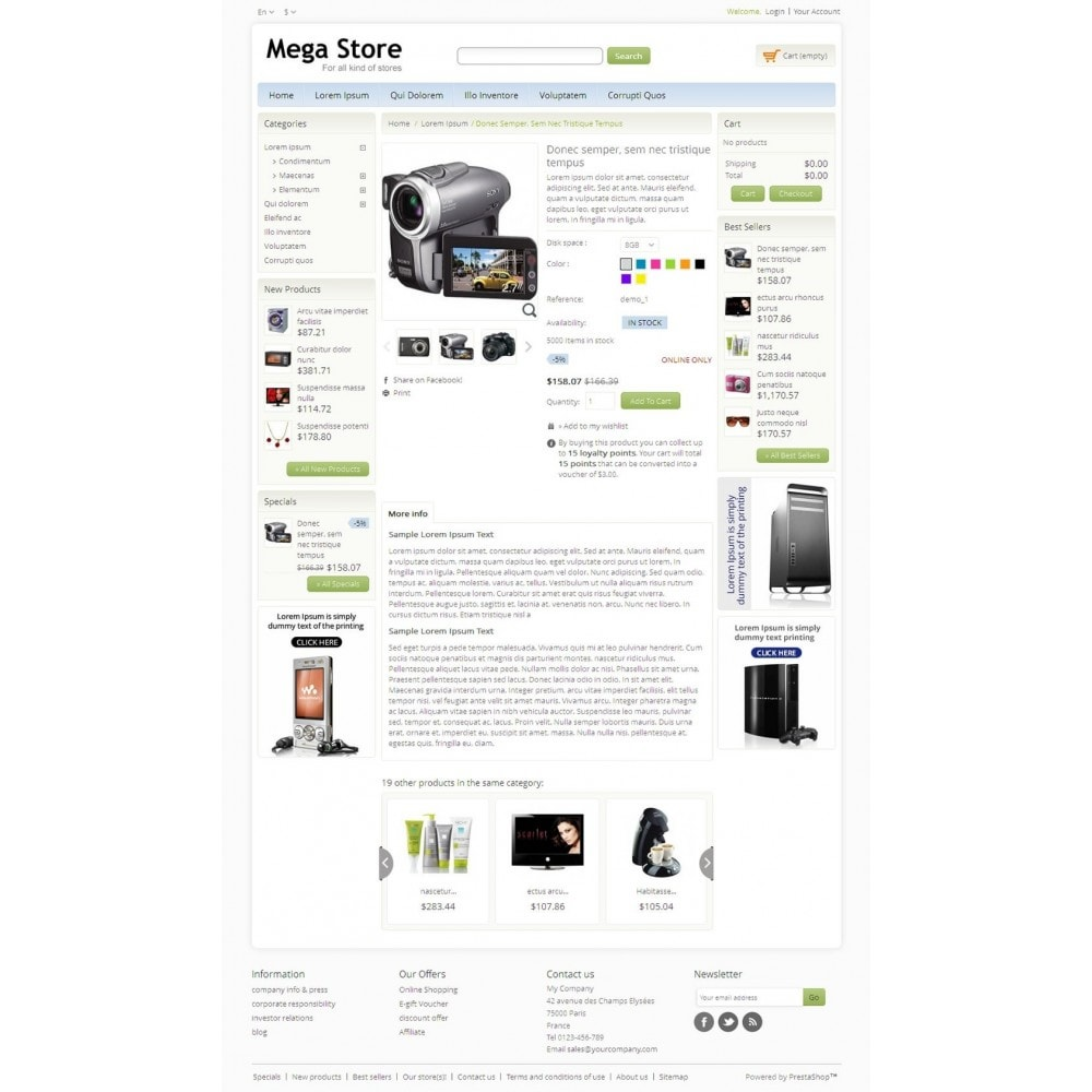 theme - Electrónica e High Tech - Blue Mega Store - 4