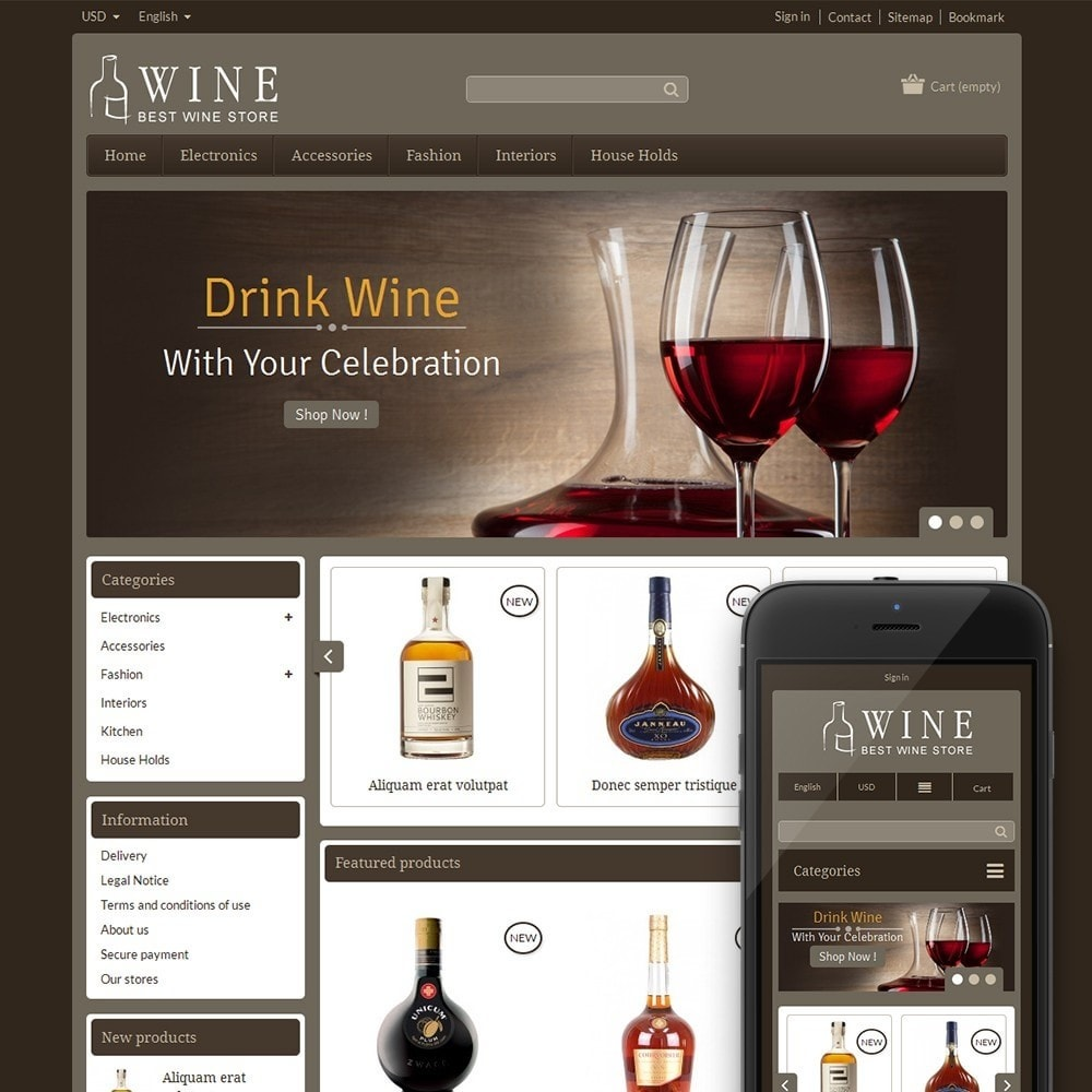 theme - Drink & Wine - Online Wine Shop - 1