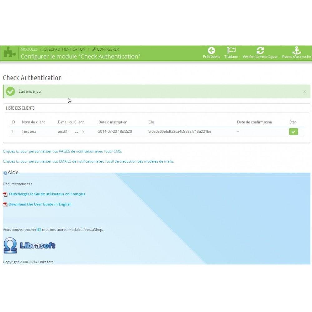 module - E-mails & Notifications - Check Authentification / Validation de mail - 8
