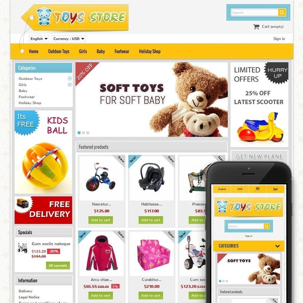 theme - Kids & Toys - Mini Toys Store - 1