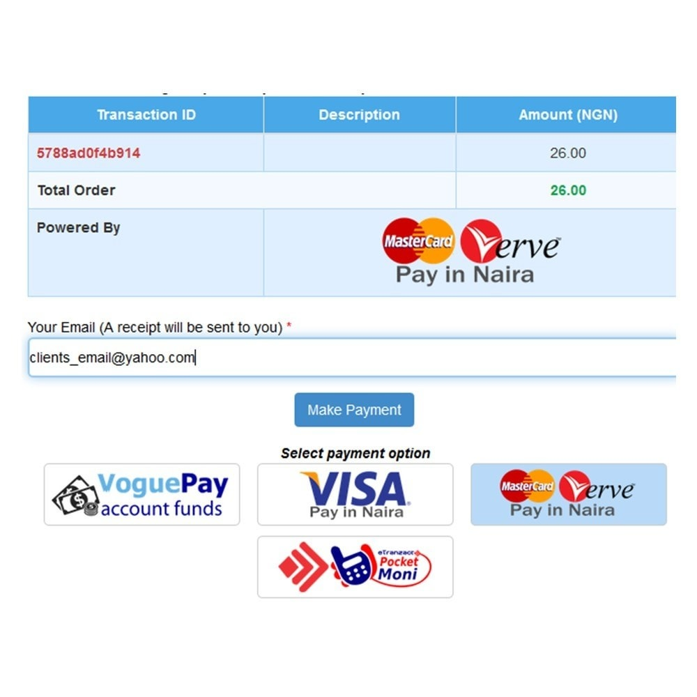 module - Payment by Card or Wallet - iLink-VoguePay - 3