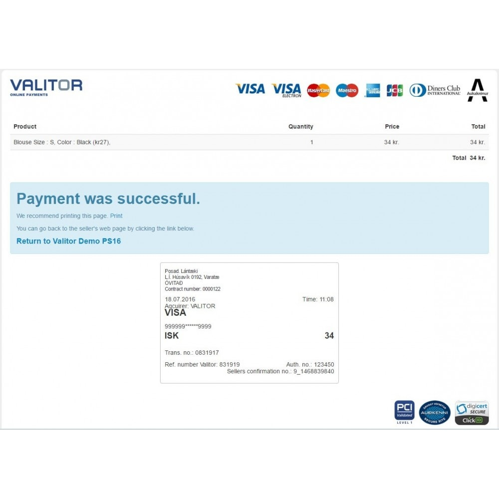 module - Payment by Card or Wallet - Valitor Web Payments - 4