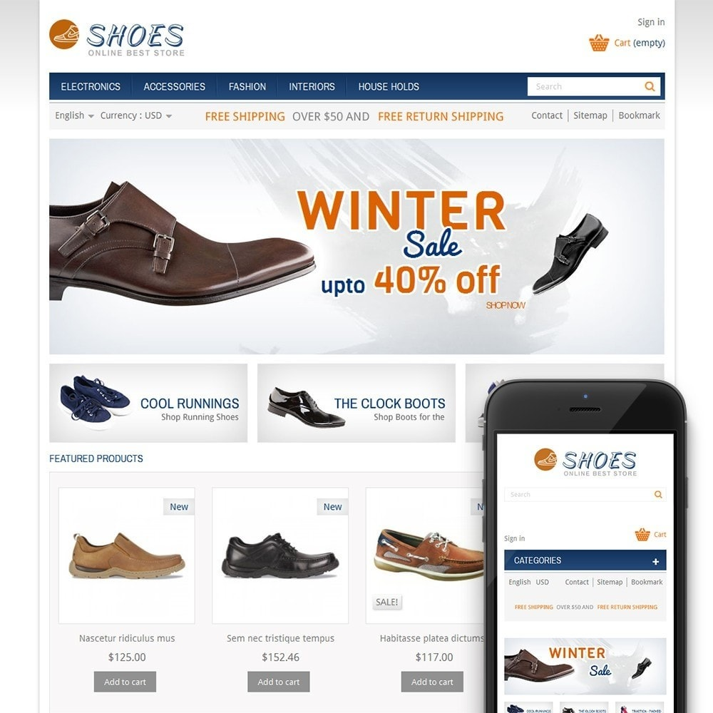theme - Mode & Schoenen - Online Shoes Store - 1