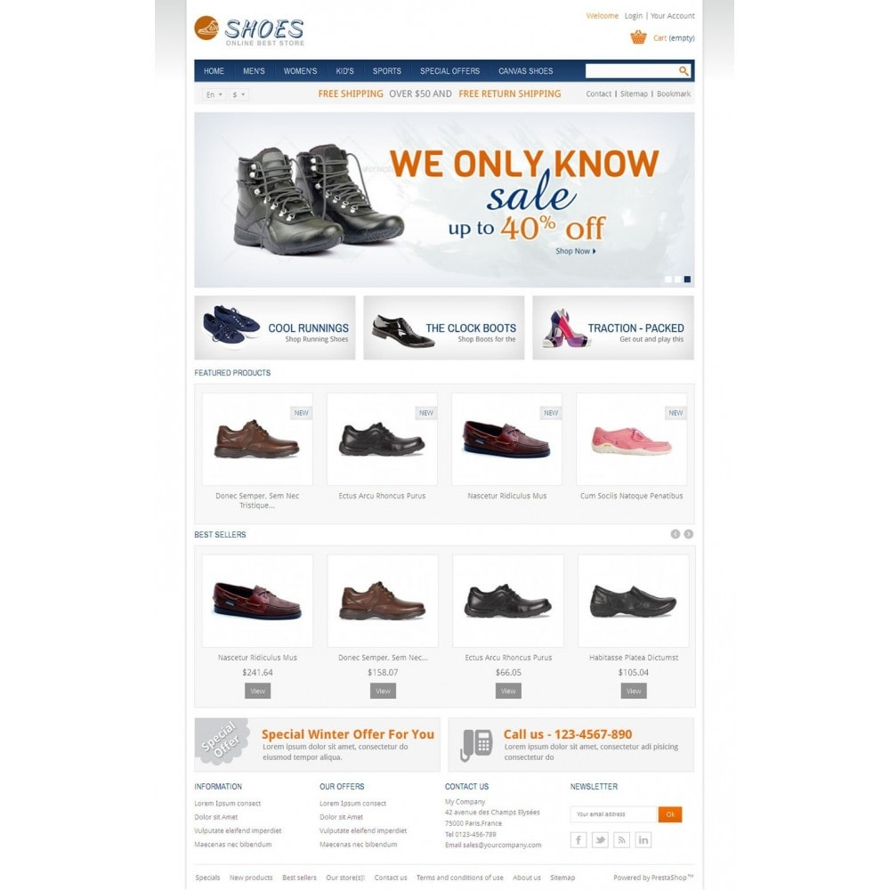 theme - Moda & Calçados - Online Shoes Store - 2