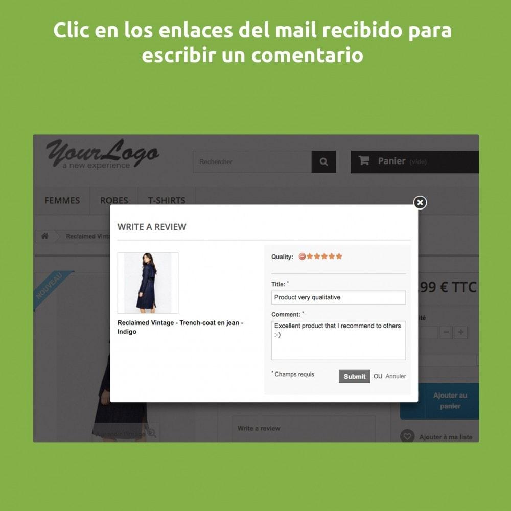 module - Comentarios de clientes - Comentarios, notas y opiniones después de la compra - 4