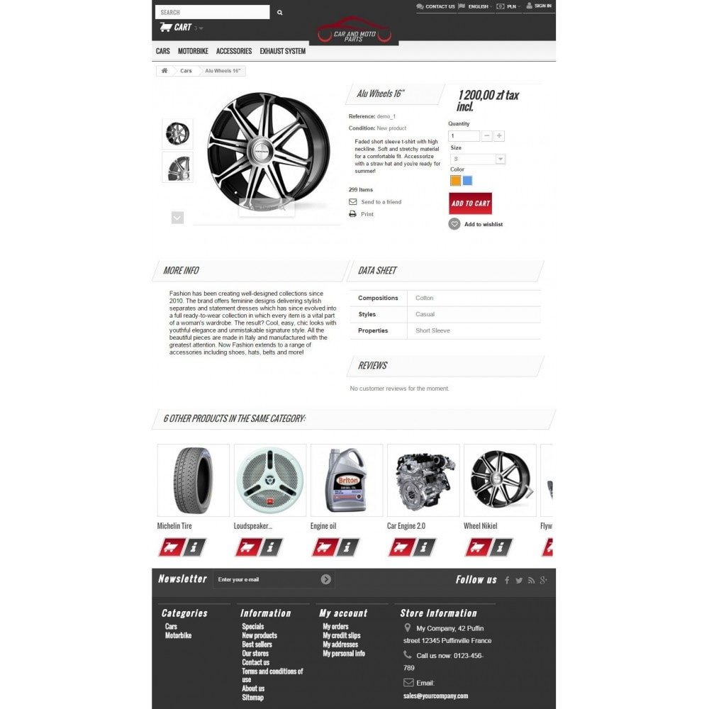 theme - Carros & Motos - Car and Moto Parts - 7