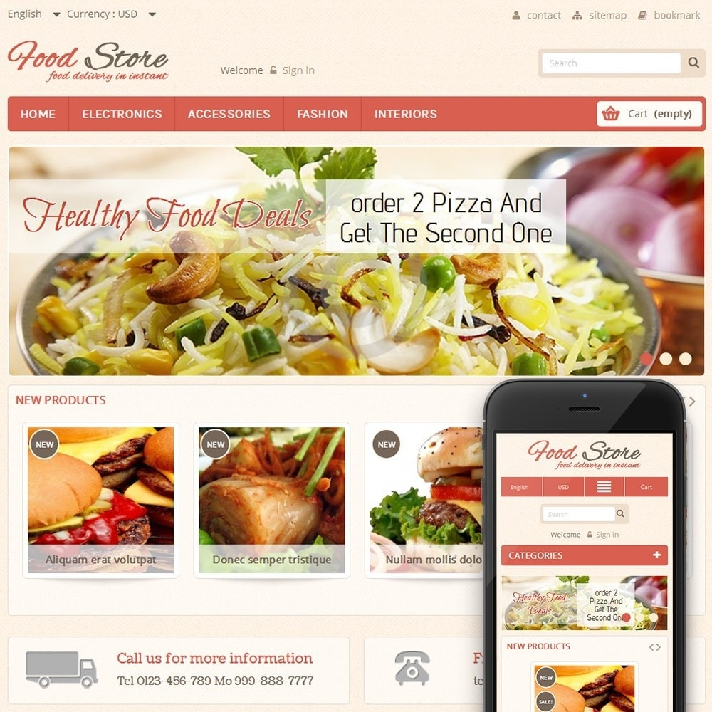 theme - Alimentos & Restaurantes - Food and Restaurant Store - 1