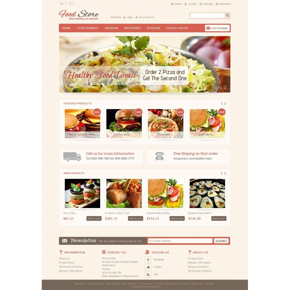 theme - Alimentos & Restaurantes - Food and Restaurant Store - 2