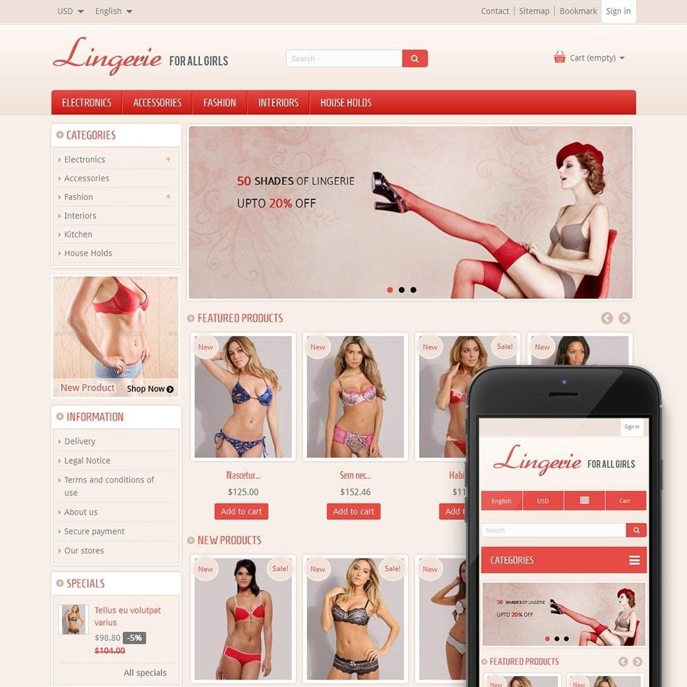 Lingerie online shop