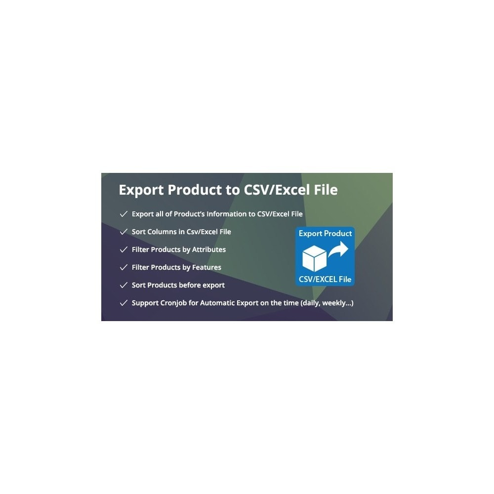 module - Импорт и Экспорт данных - Filter & Export Product to CSV/Excel File Pro - 1