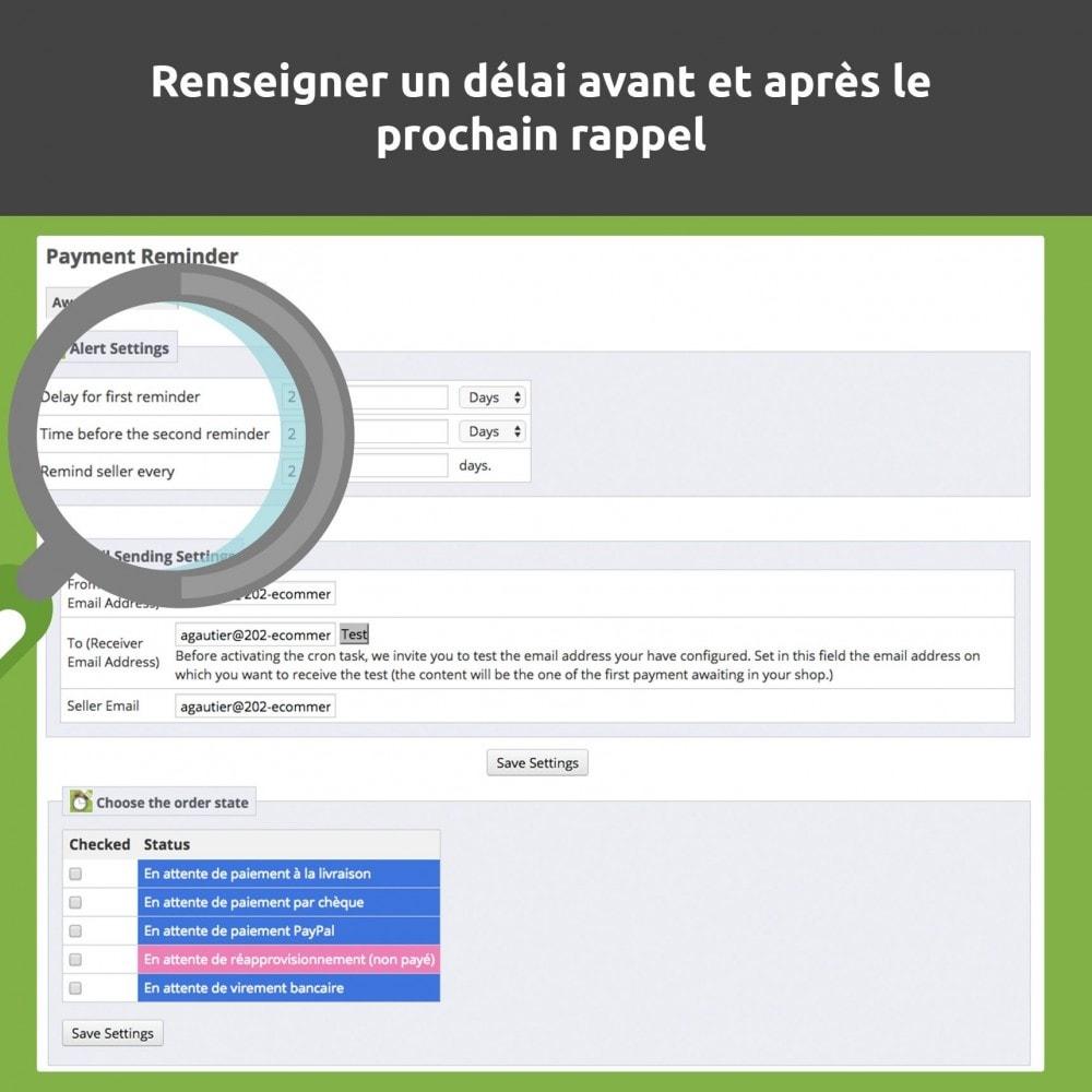 module - E-mails & Notifications - Relance de paiement / payment reminder - 4