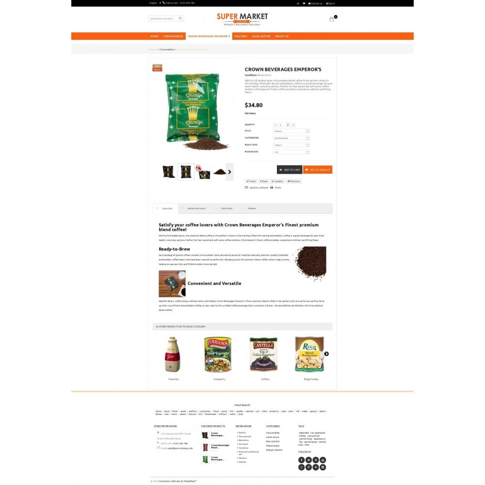 theme - Alimentation & Restauration - Supermarket Grocery Shop - 4