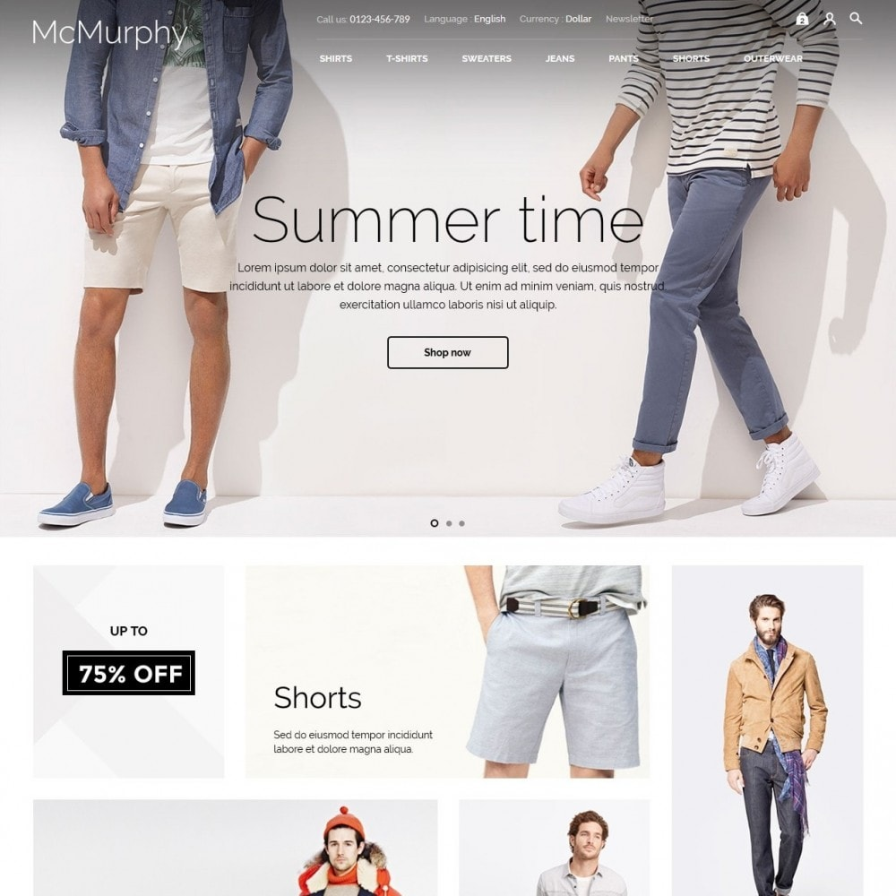 theme - Fashion & Shoes - McMurphy Men's Wear - 2