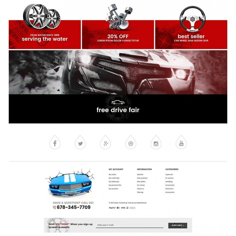 theme - Samochody - Water Automotive & Cars - 4