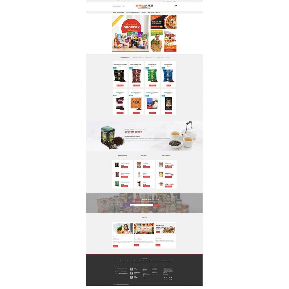 theme - Alimentation & Restauration - Supermarket Grocery Shop - 6