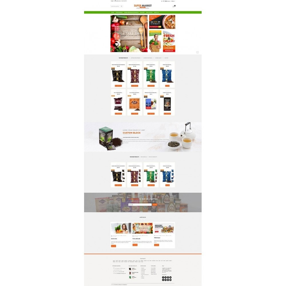 theme - Alimentation & Restauration - Supermarket Grocery Shop - 8