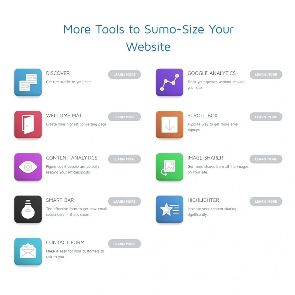 module - Administrative Tools - SumoMe - Website traffic tools - 3