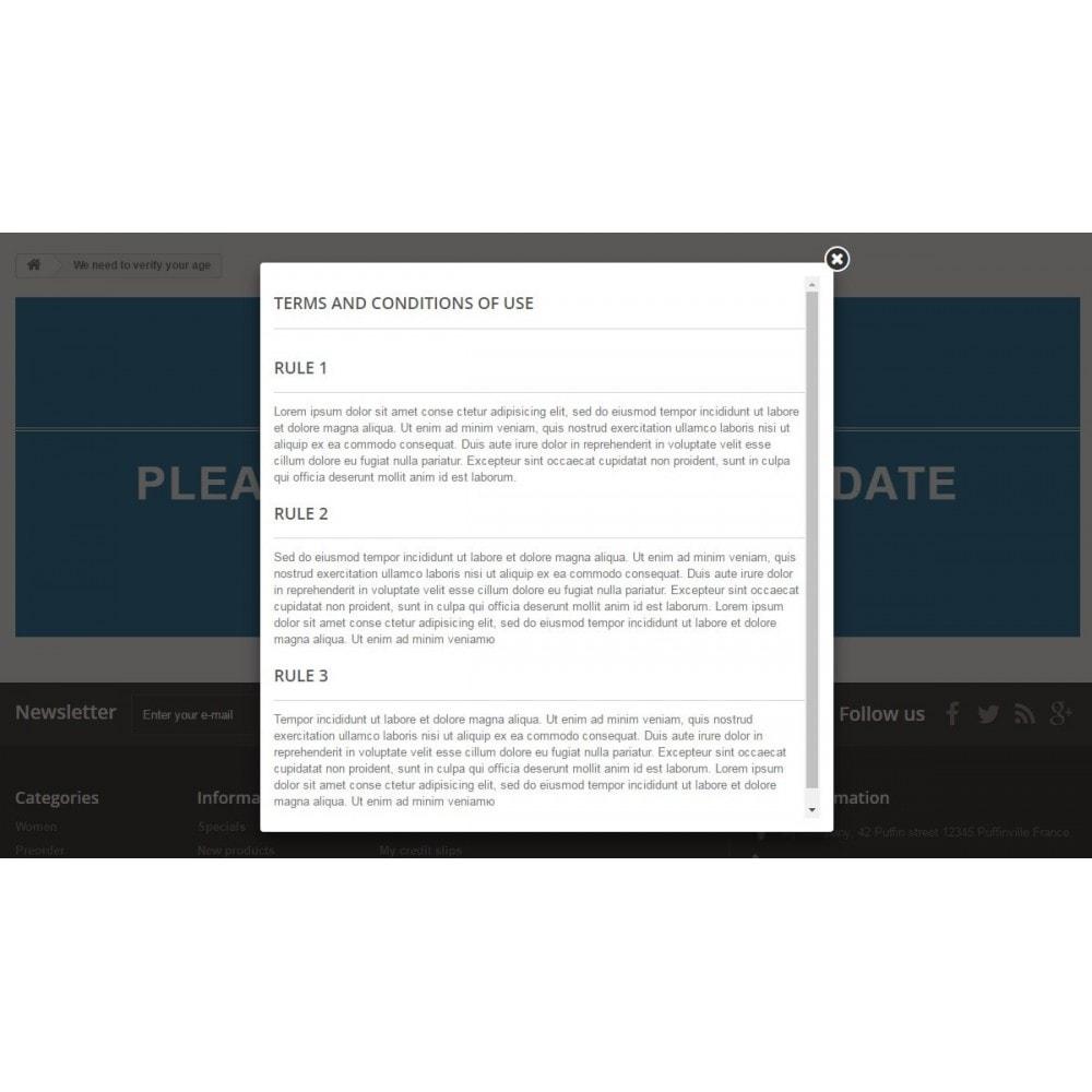 module - Segurança & Acesso - Age verification page / Popup 18+ - 8