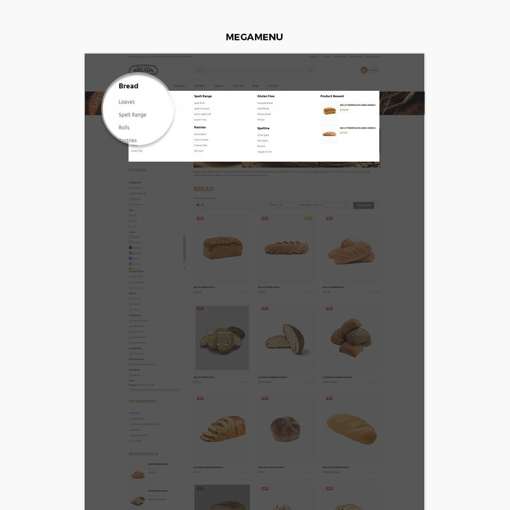 theme - Продовольствие и рестораны - Leo Bread - Food & Loaf PrestaShop Theme - 4