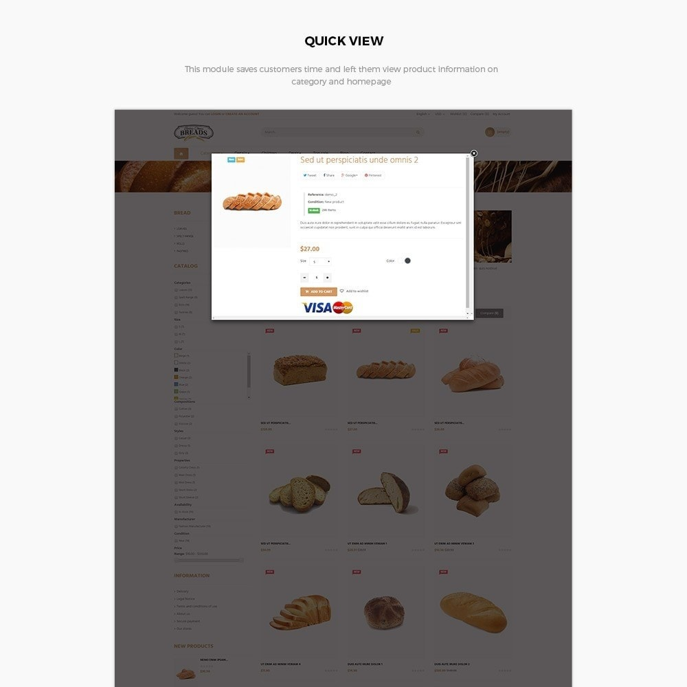 theme - Продовольствие и рестораны - Leo Bread - Food & Loaf PrestaShop Theme - 5