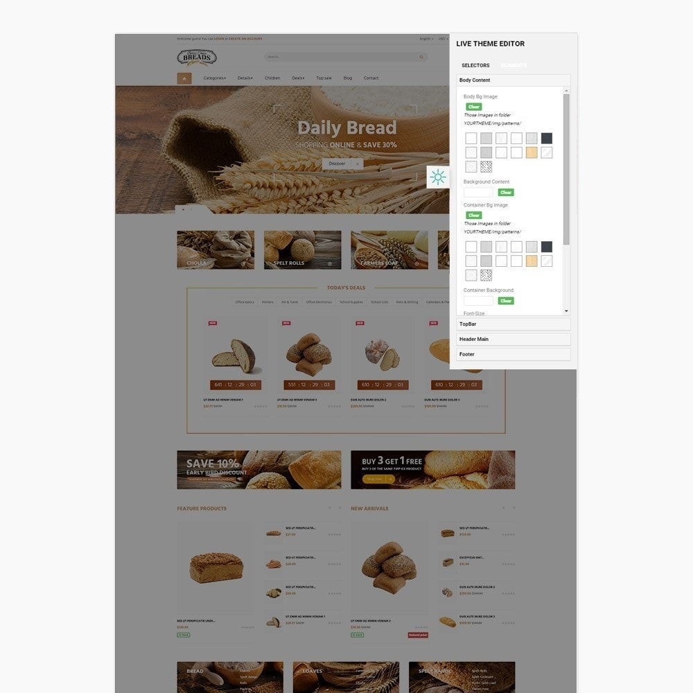 theme - Gastronomía y Restauración - Leo Bread - Food & Loaf PrestaShop Theme - 6