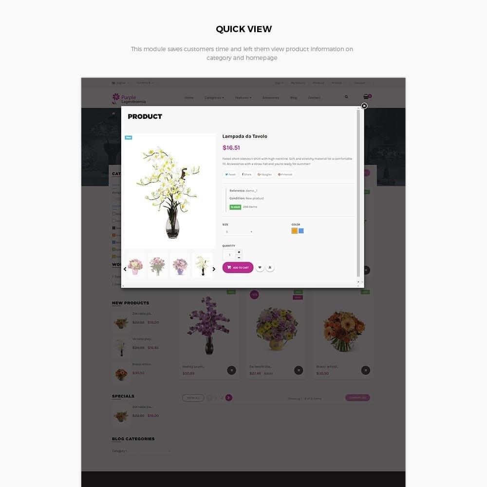 theme - Cadeaux, Fleurs et Fêtes - Ap Purple Lagerstroemia - 4