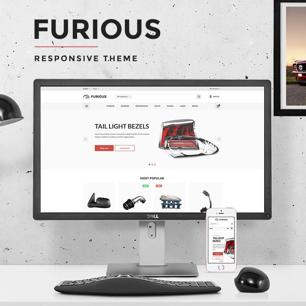 theme - Carros & Motos - Furious Store - 1