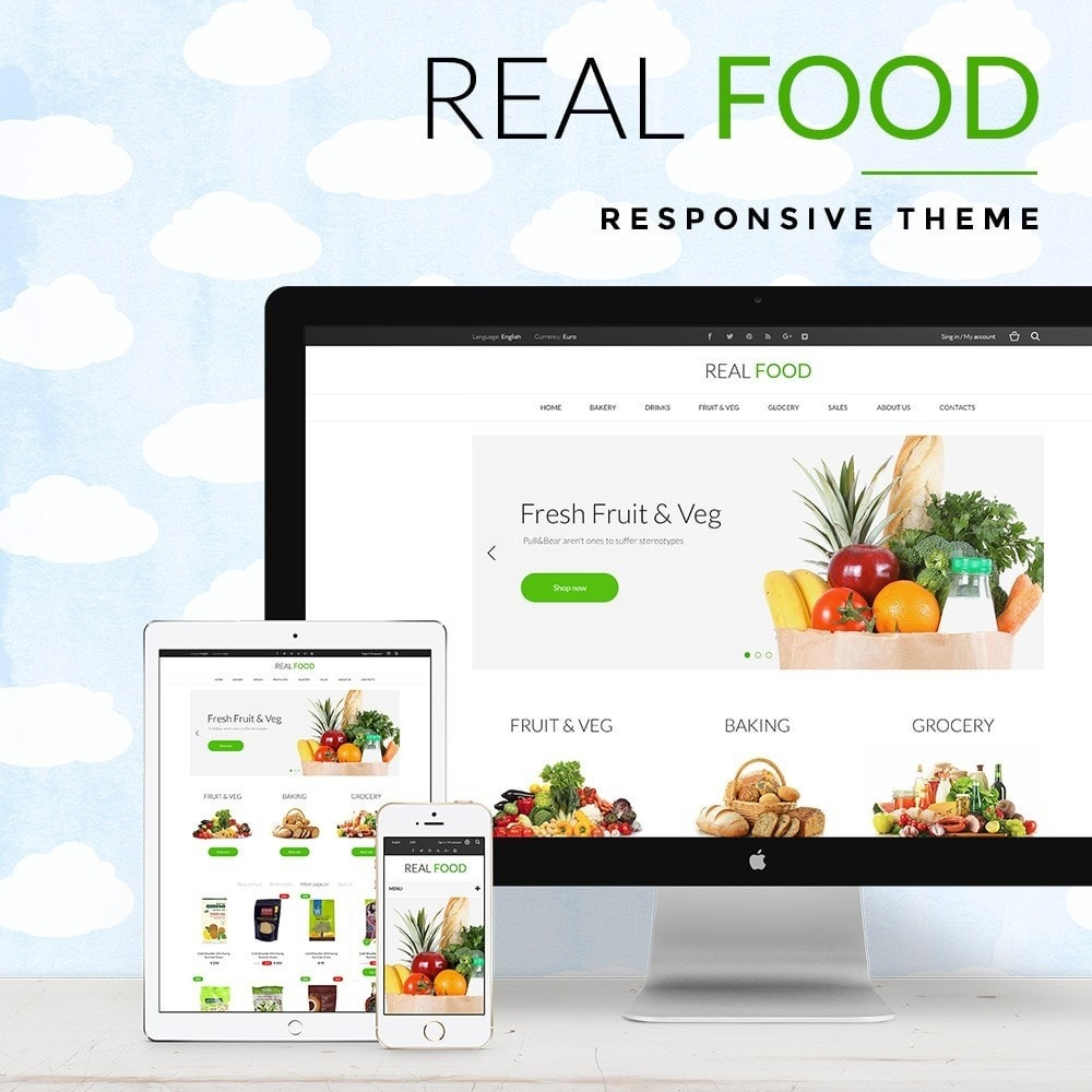 theme - Alimentation & Restauration - Real Food Store - 1