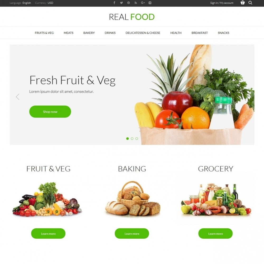 theme - Alimentation & Restauration - Real Food Store - 2