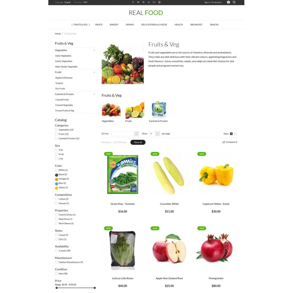 theme - Lebensmittel & Restaurants - Real Food Store - 5