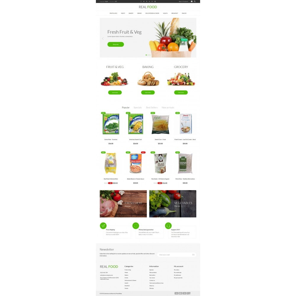 theme - Lebensmittel & Restaurants - Real Food Store - 6