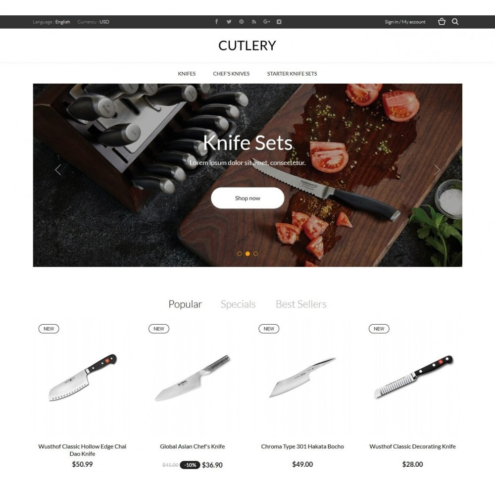 theme - Home & Garden - Cutlery Shop - 2