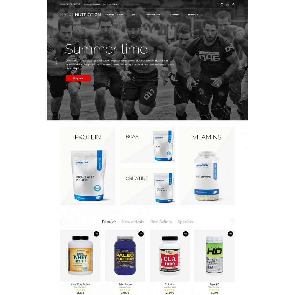 theme - Sport, Rozrywka & Podróże - Sport Nutrition Store - 2