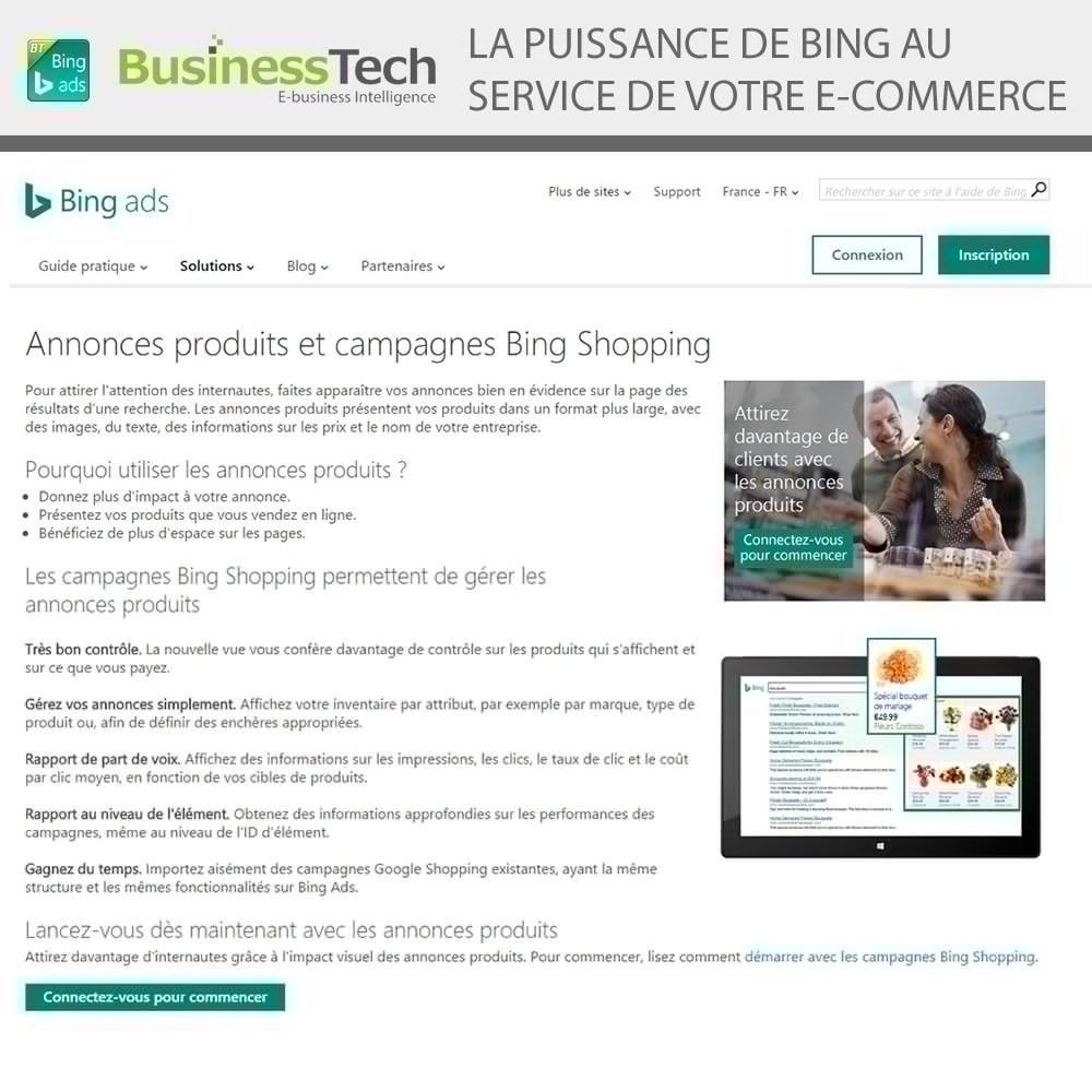 module - Référencement payant (SEA SEM) & Affiliation - Bing Merchant Center pour Bing Product Ads - 2