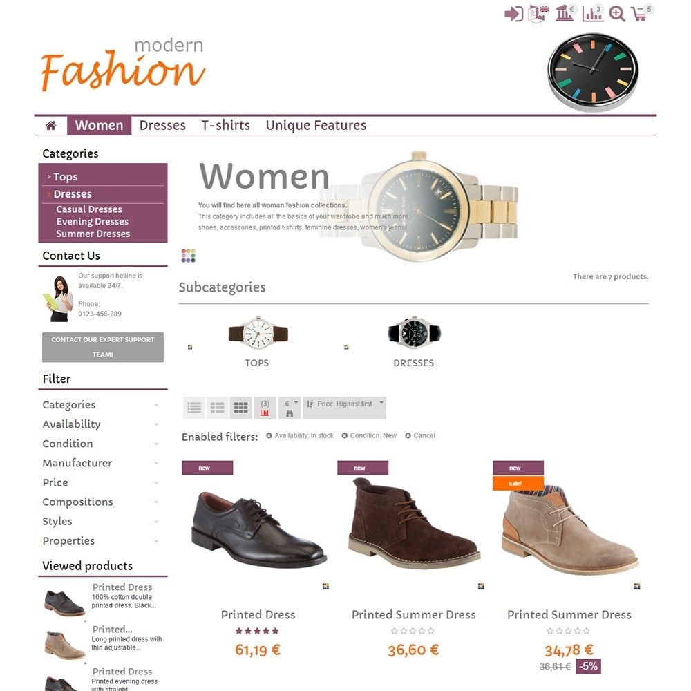 theme - Мода и обувь - Modern Fashion - 3