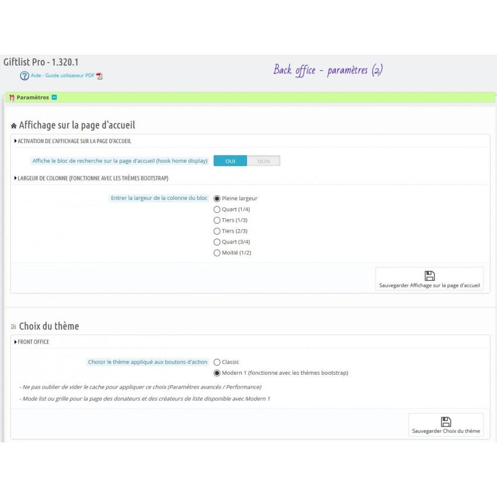module - Liste de souhaits & Carte cadeau - Gift List Pro - 13